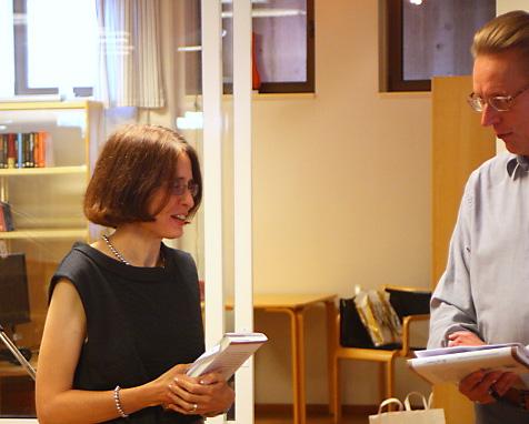"""Inger Littberger Caisou-Rousseau tillsammans med Erik Lindfelt. Ingers text heter """"En riktig äkta smälänning"""" med världsrykte"""